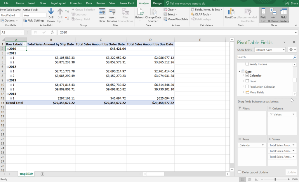 Managing Role Playing Dimensions in SSAS Tabular with Measures in Excel