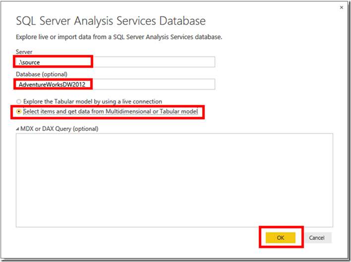 Power BI and SSAS Multidimensional 02