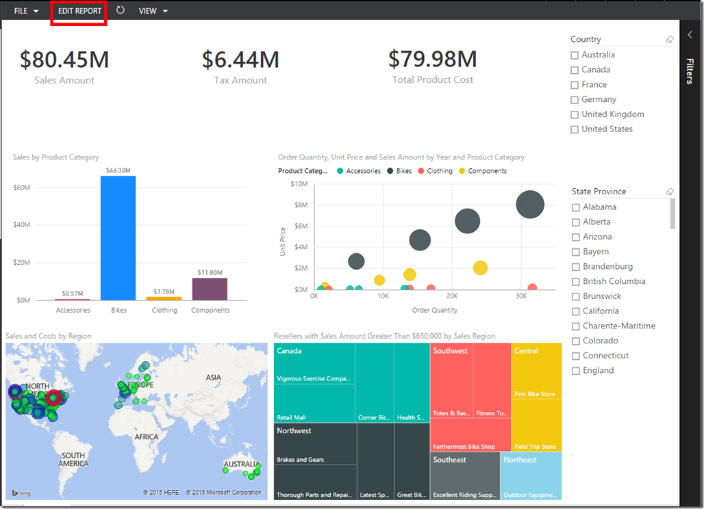 Drill Action in Power BI 01