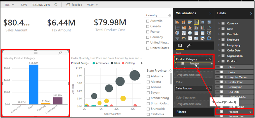 Drill Action in Power BI 02