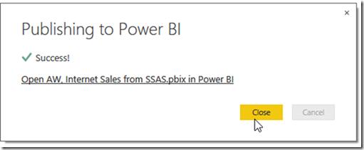 Power BI and SSAS Multidimensional 07