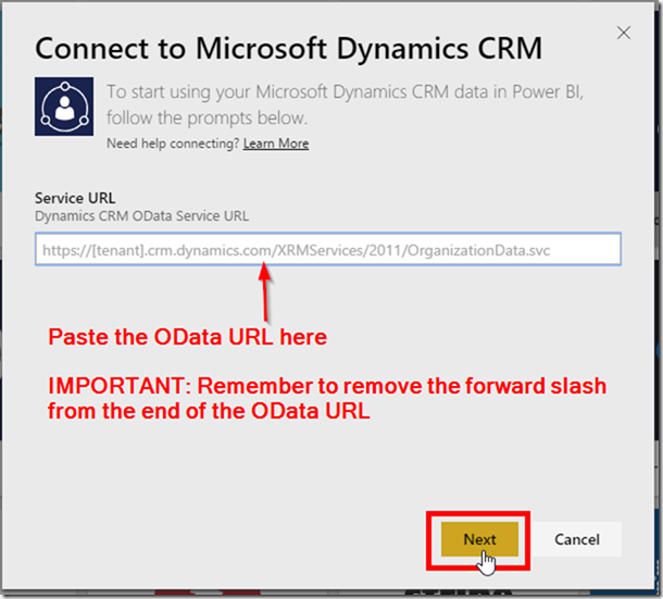 Power BI CRM Connector 3