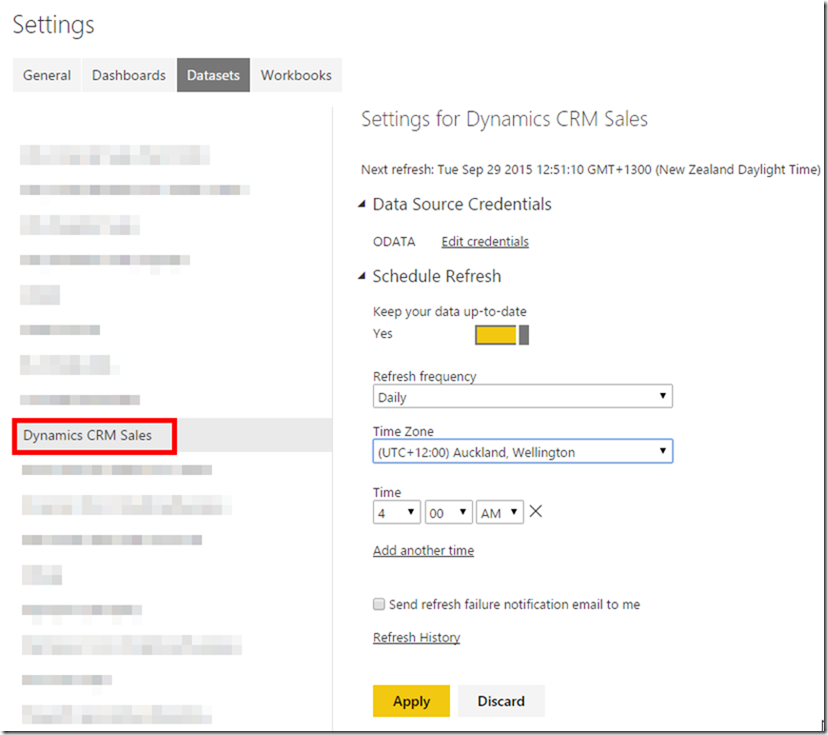 Dynamics CRM and Power BI 3