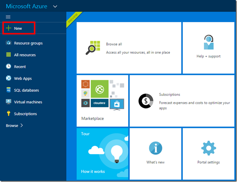 Install Azure SQL Data Warehouse 01