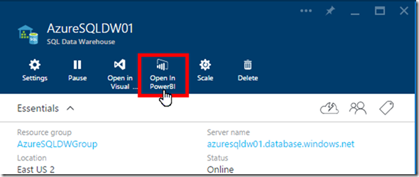 Azure SQL Data Warehouse and Power BI