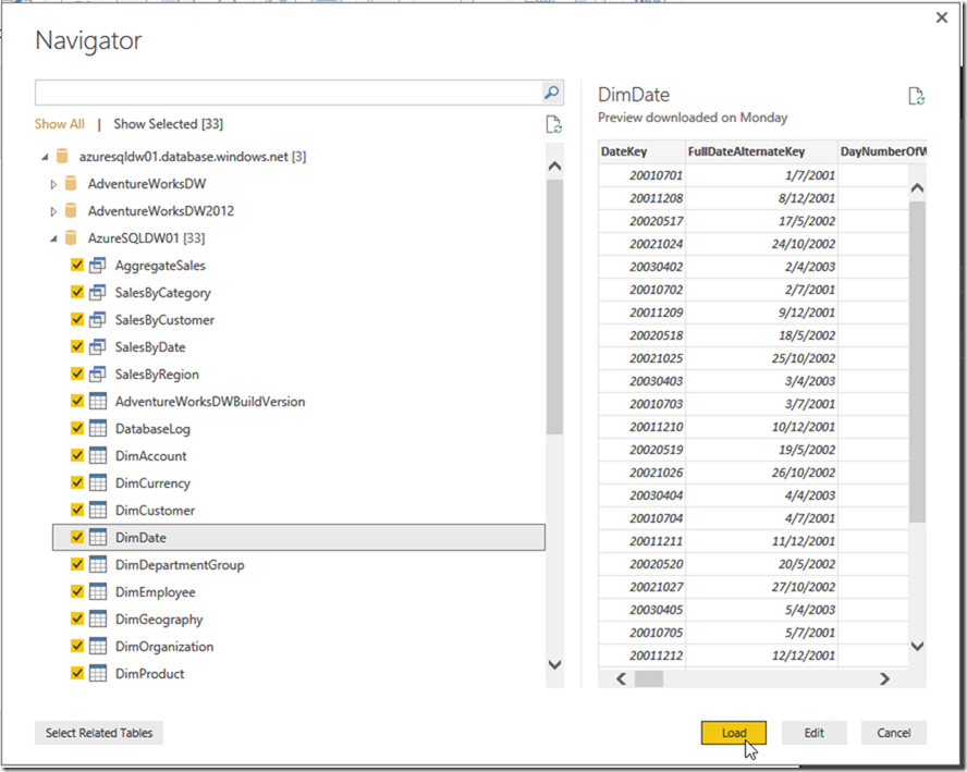Azure SQL Data Warehouse and Power BI 09