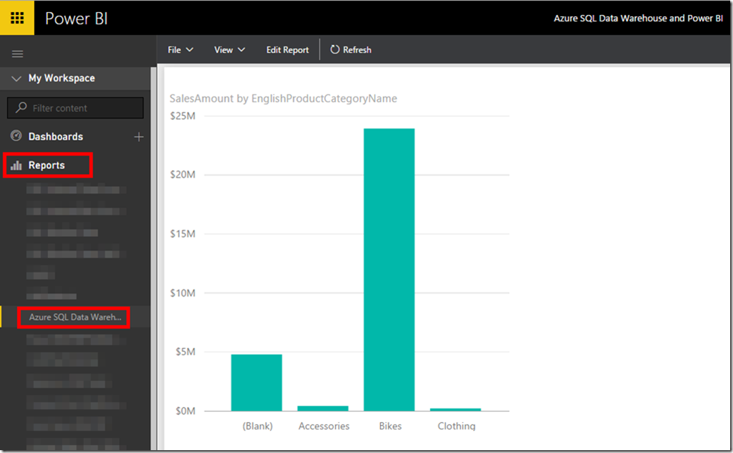 Azure SQL Data Warehouse and Power BI 12