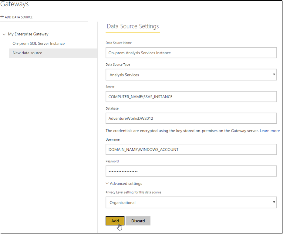 Managing Power BI Enterprise Gateways 04