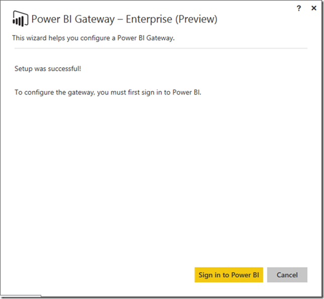 Installing Power BI Enterprise Gateway 02