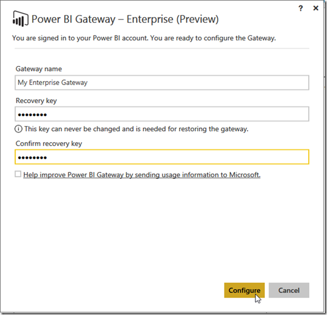 Installing Power BI Enterprise Gateway 03