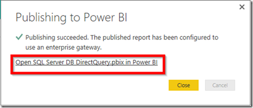 Power BI Publish Reports 03