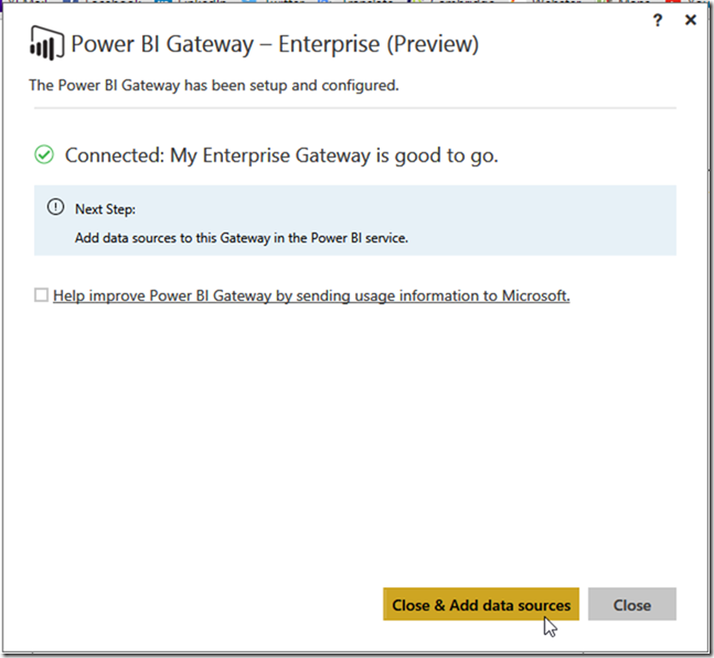 Installing Power BI Enterprise Gateway 04