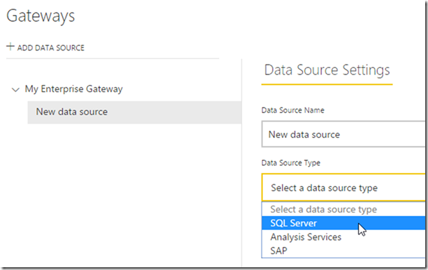 Managing Power BI Enterprise Gateways 01