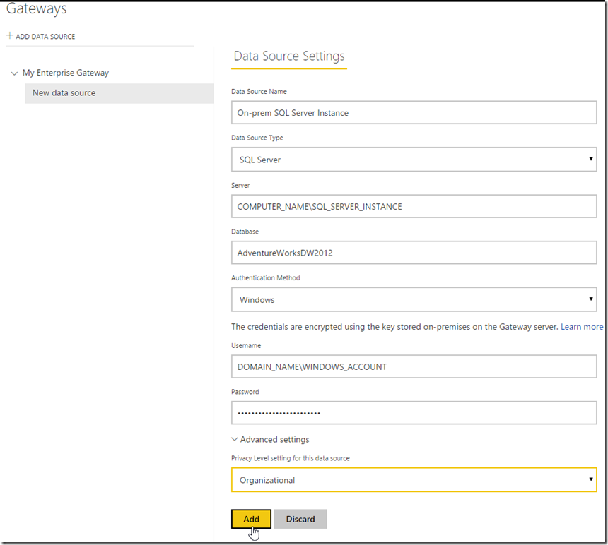 Managing Power BI Enterprise Gateways 02