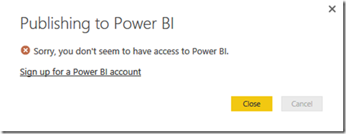 Power BI Microsoft Account Type 01