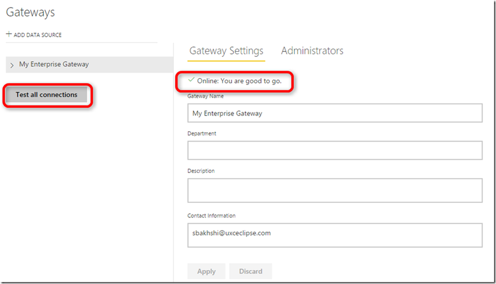 Power BI Gateway Management 02
