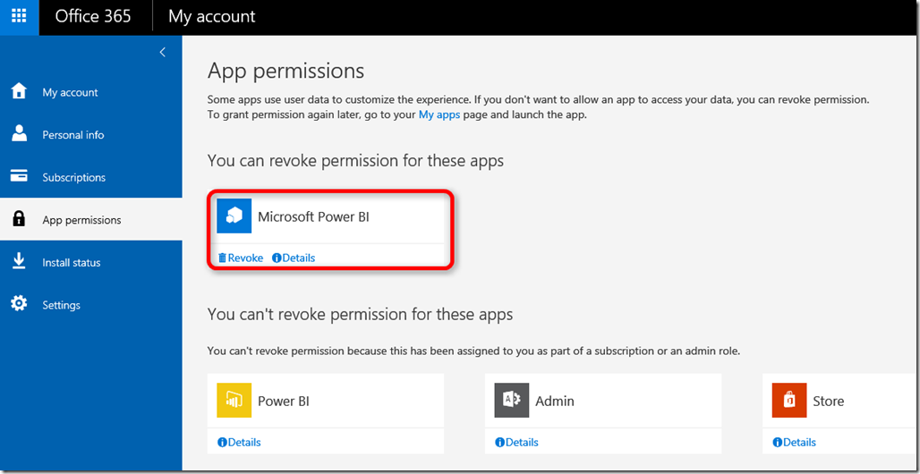 Power BI App Permissions