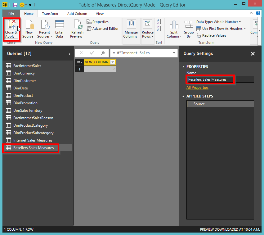 How to Define a Measure Table in Power BI Desktop