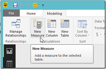 Power BI new measure