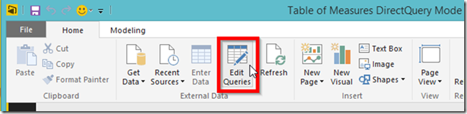 Power BI Edit Query