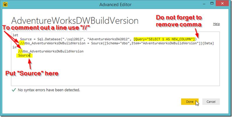 Power BI Advanced Editor 04