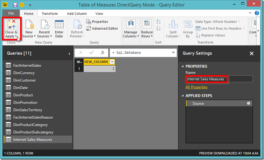 Power BI new table in Query Editor 02