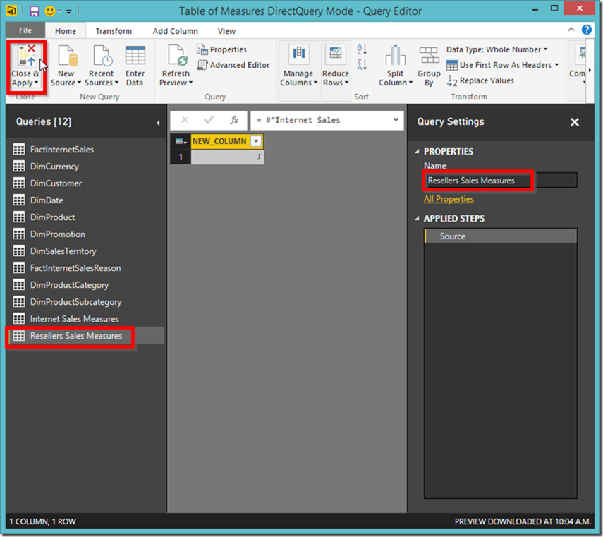 Power BI reference table 02