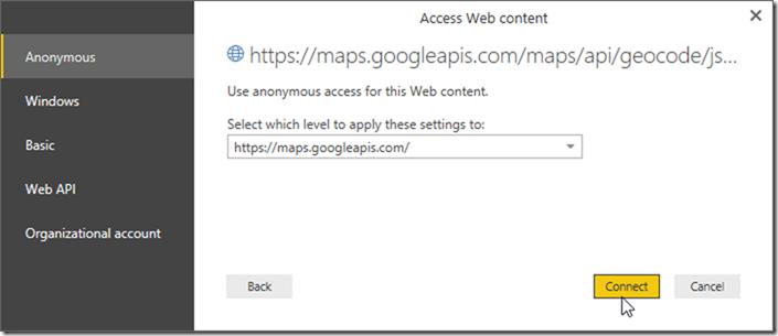 Power BI Desktop Access Web Content