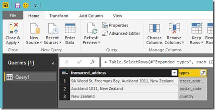 Power BI Desktop Query Editor 2