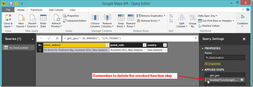 Power BI Desktop Invoke Function 3