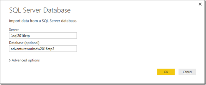 Power BI SQL Server Connection