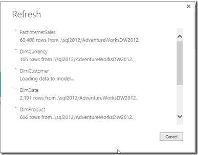 Power BI Desktop Refresh Data