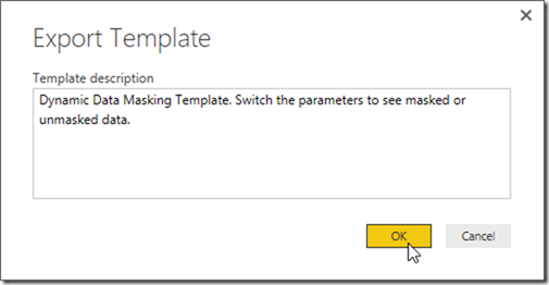 Power BI Desktop Export Template