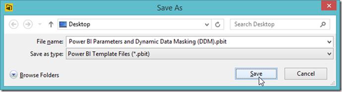 Power BI Desktop Export Template pbit