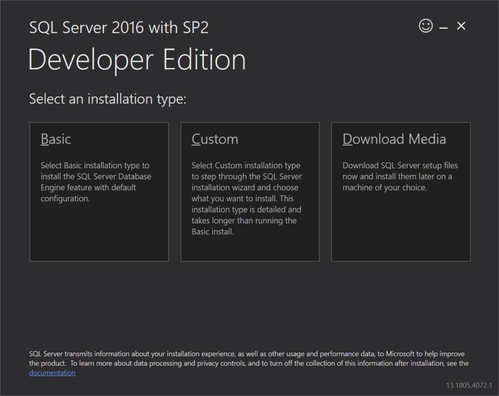 How to install sql server developer edition.