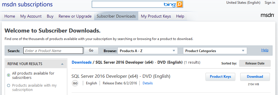 How to Download SQL Server 2016 Developer Edition for Free