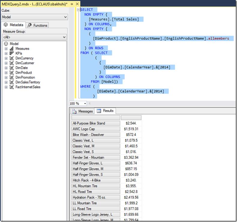 MDX and Power BI Desktop