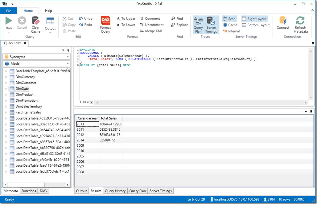 Browsing Power BI Desktop Model from DAX Studio