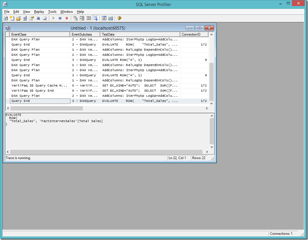 Profiling Power BI Desktop Model using SQL Server Profiler