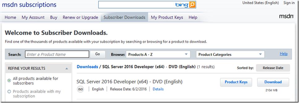 torrent sql server 2016 enterprise