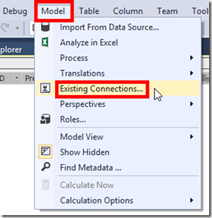 SSAS Tabular Existing Connections