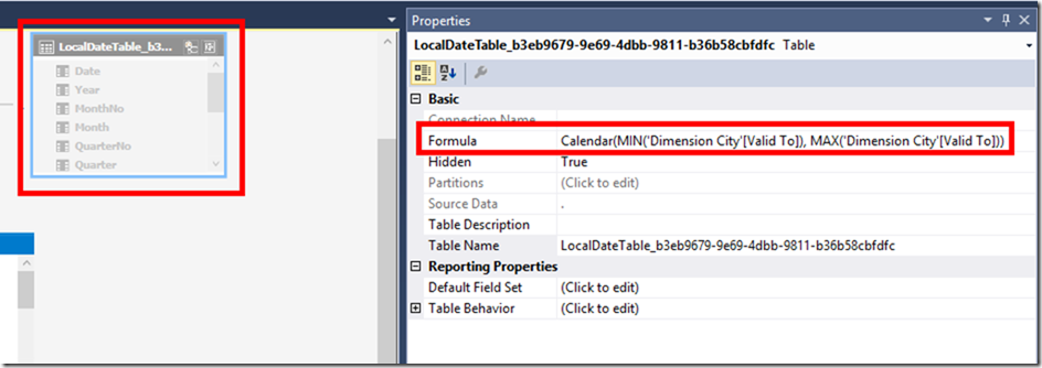 Calculated Table in SSAS Tabular