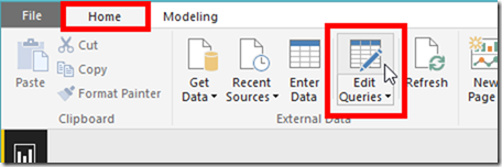 Power BI Desktop Edit Query