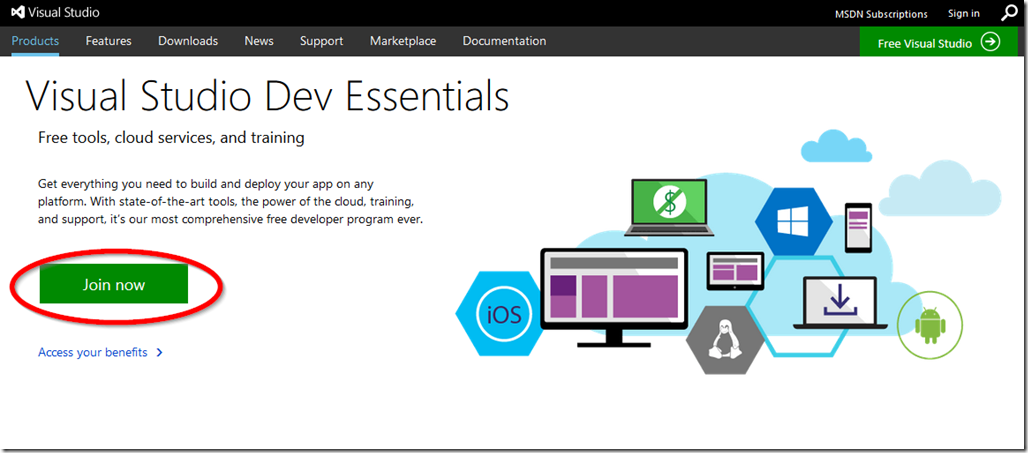 Joining Visual Studio Dev Essentials