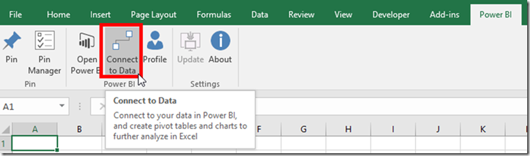 Analyse Power BI Data in Excel from Excel