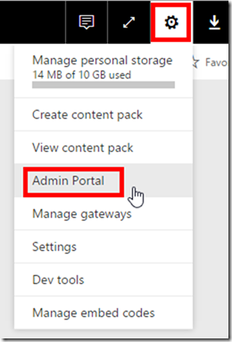 Power BI Admin Portal
