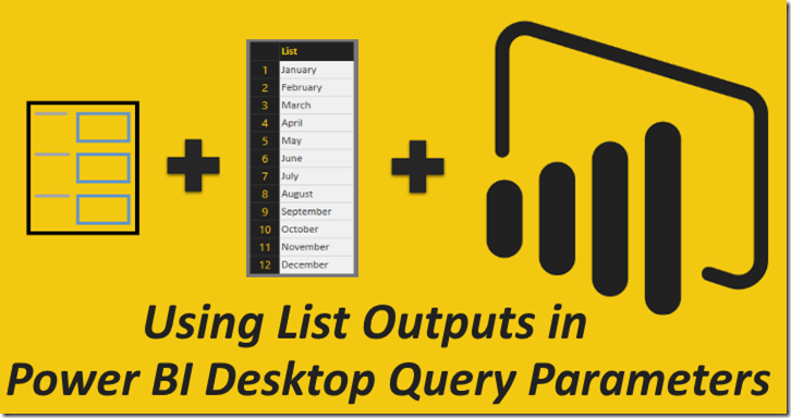List Output in Power BI Query Parameters