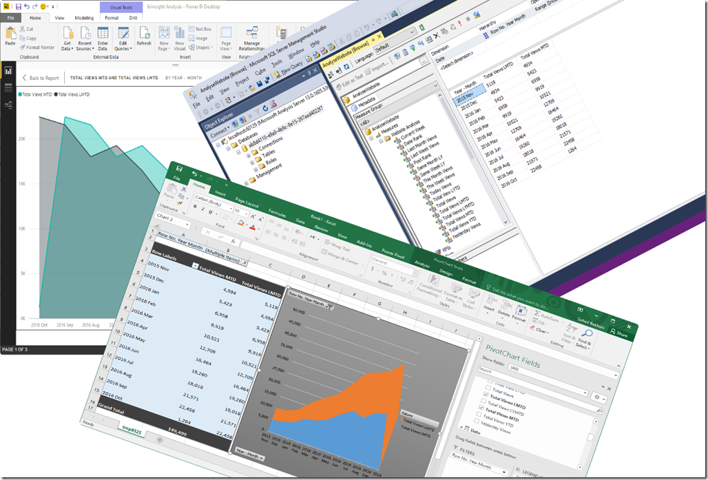 Connect to Power BI Desktop Model from Excel and SSMS
