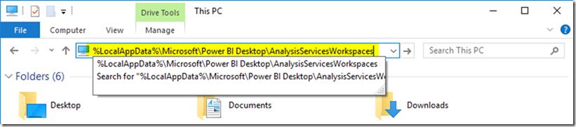 Power BI Desktop Temp Folder