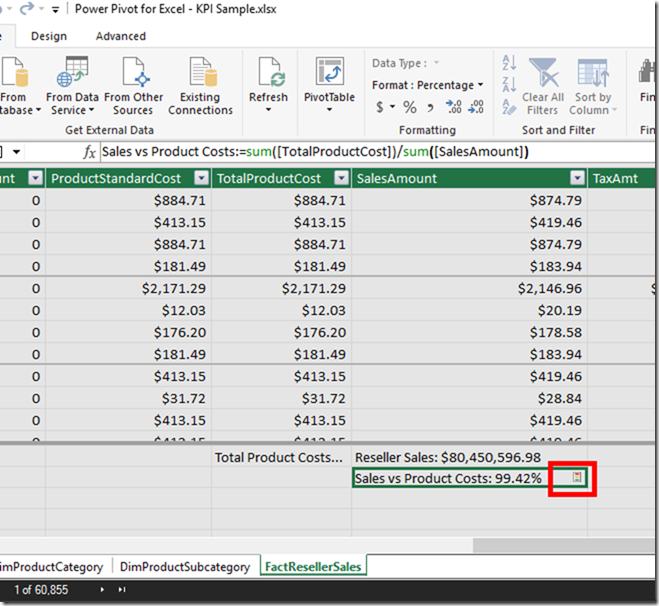 KPI in Power Pivot